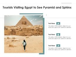 Tourists Visiting Egypt To See Pyramid And Sphinx