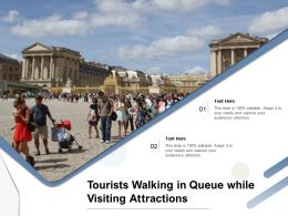 Tourists Walking In Queue While Visiting Attractions