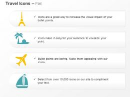 Tower Beach Plane Boat Ppt Icons Graphics
