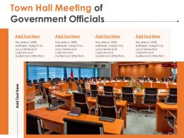 Town Hall Meeting Of Government Officials