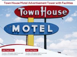Town House Motel Advertisement Tower With Facilities