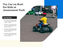Toy Car On Rent For Kids At Amusement Park