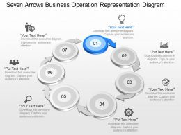 Tp Seven Arrows Business Operation Representation Diagram Powerpoint Template Slide