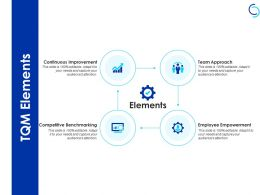 Tqm Elements Competitive Benchmarking Ppt Powerpoint Presentation Example
