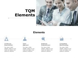 Tqm Elements Employee Empowerment Ppt Powerpoint Presentation Pictures Structure