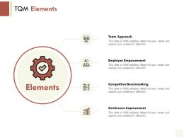 TQM Elements Team Approach Employee Empowerment Ppt Powerpoint Presentation Icon Designs Download