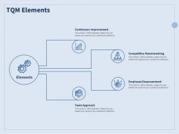 TQM Elements Team Approach Ppt Powerpoint Presentation Infographic Template Slideshow
