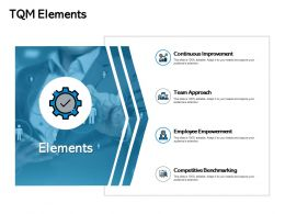 Tqm Elements Team Approach Ppt Powerpoint Presentation Show Layouts