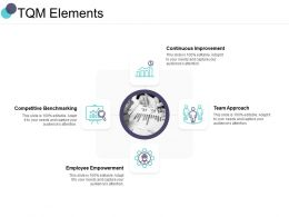 TQM Elements Team Approach Ppt Powerpoint Presentation Styles Model