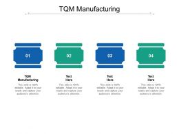 TQM Manufacturing Ppt Powerpoint Presentation Gallery Themes Cpb
