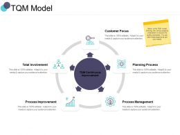 TQM Model Planning Process Ppt Powerpoint Presentation Portfolio Show
