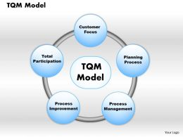 TQM Model Powerpoint Presentation Slide Template
