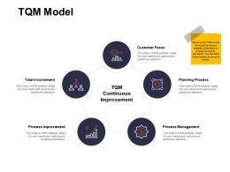 TQM Model Process Improvement Ppt Powerpoint Presentation Ideas Summary