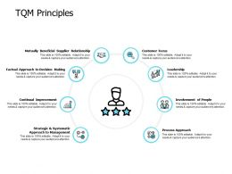 TQM Principles Involvement Of People Process Approach Ppt Powerpoint Presentation Show Example