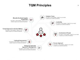 TQM Principles Leadership Ppt Powerpoint Presentation Professional Model