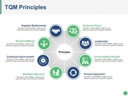 Tqm Principles Ppt Diagrams
