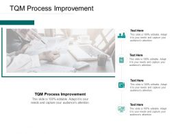 TQM Process Improvement Ppt Powerpoint Presentation Portfolio Slideshow Cpb