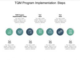 TQM Program Implementation Steps Ppt Powerpoint Presentation Show Skills Cpb