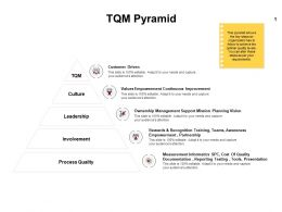 TQM Pyramid Involvement Ppt Powerpoint Presentation Professional Outline