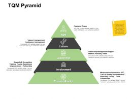 TQM Pyramid Ownership Management Powerpoint Presentation Image