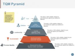 Tqm Pyramid Powerpoint Slide Designs