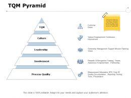 Tqm Pyramid Process Quality Ppt Powerpoint Presentation Portfolio Professional