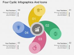tr Four Cyclic Infographics And Icons Flat Powerpoint Design