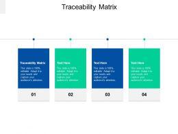 Traceability Matrix Ppt Powerpoint Presentation File Picture Cpb
