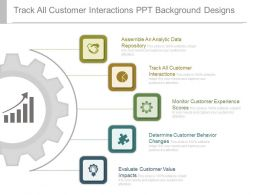 Track All Customer Interactions Ppt Background Designs