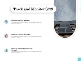Track And Monitor Perform Ppt Powerpoint Presentation Outline Graphics