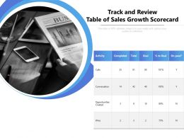 Track And Review Table Of Sales Growth Scorecard