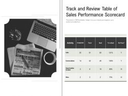 Track And Review Table Of Sales Performance Scorecard