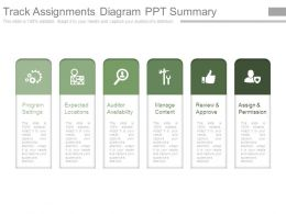 Track Assignments Diagram Ppt Summary