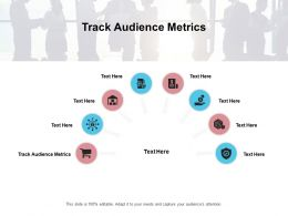 Track Audience Metrics Ppt Powerpoint Presentation Gallery Examples Cpb