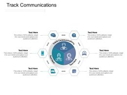 Track Communications Ppt Powerpoint Presentation Icon Objects Cpb