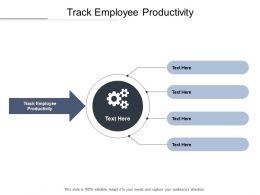Track Employee Productivity Ppt Powerpoint Presentation Portfolio Cpb