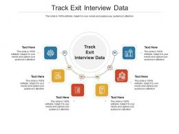 Track Exit Interview Data Ppt Powerpoint Presentation Gallery Brochure Cpb