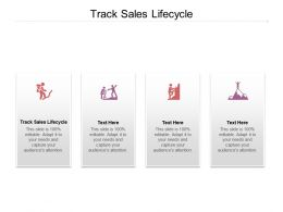Track Sales Lifecycle Ppt Powerpoint Presentation File Infographics Cpb