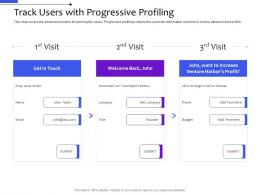 Track Users With Progressive Profiling Multi Channel Distribution Management System Ppt Diagrams