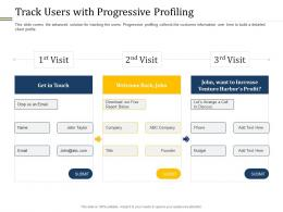 Track Users With Progressive Profiling Ppt Powerpoint Presentation Icon Pictures