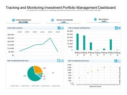 Tracking And Monitoring Investment Portfolio Management Dashboard