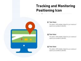 Tracking And Monitoring Positioning Icon