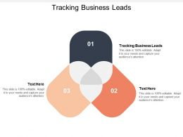 Tracking Business Leads Ppt Powerpoint Presentation Gallery Demonstration Cpb