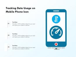 Tracking Data Usage On Mobile Phone Icon
