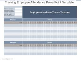 Tracking Employee Attendance Powerpoint Template