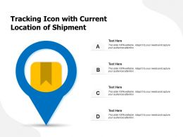 Tracking Icon With Current Location Of Shipment
