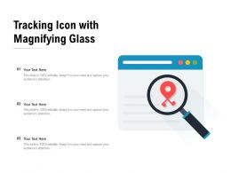 Tracking Icon With Magnifying Glass