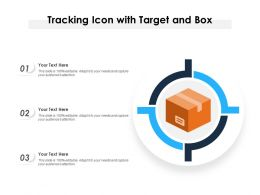 Tracking Icon With Target And Box