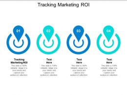 Tracking Marketing ROI Ppt Powerpoint Presentation Gallery Designs Download Cpb