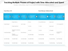 Tracking Multiple Phases Of Project With Time Allocated And Spent
